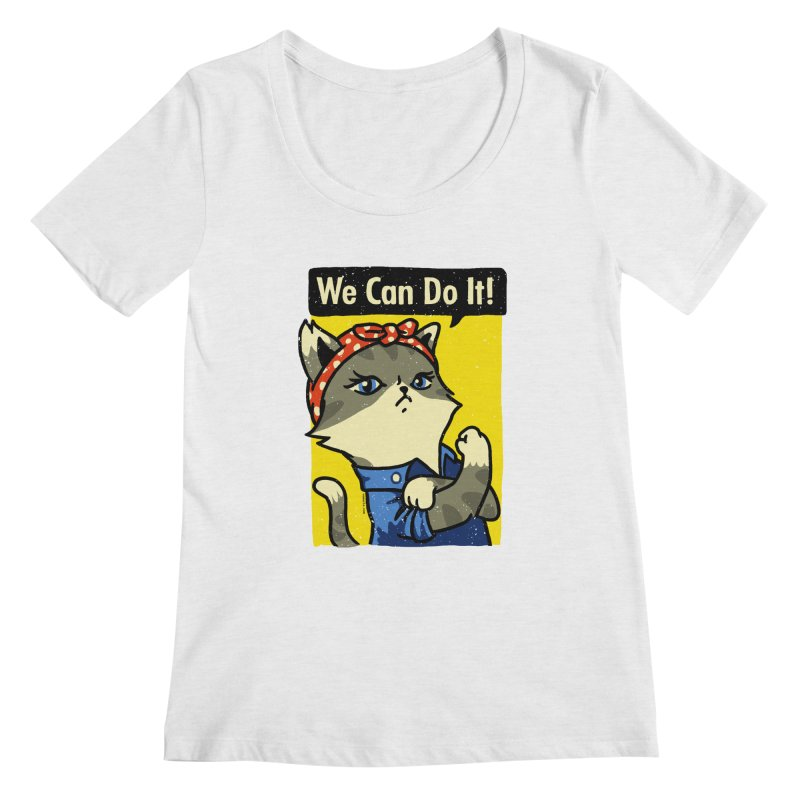 Purrsist! We Can Do It! Women's Scoopneck by Vó Maria's Artist Shop