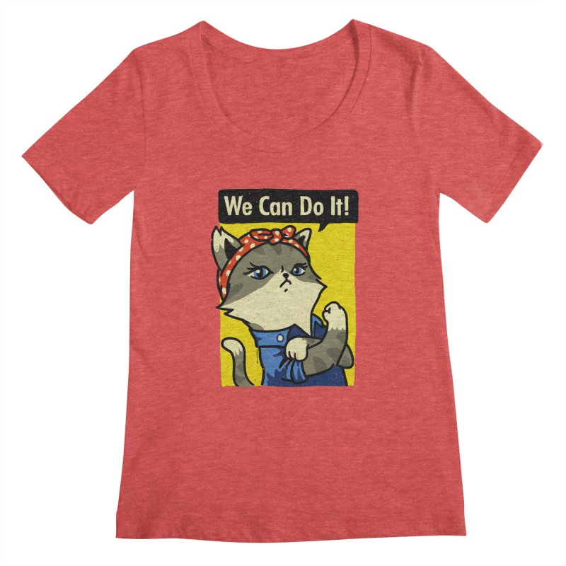 Purrsist! We Can Do It! Women's Scoopneck by Vó Maria's Artist Shop