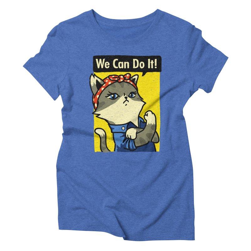 Purrsist! We Can Do It! Women's Triblend T-shirt by Vó Maria's Artist Shop
