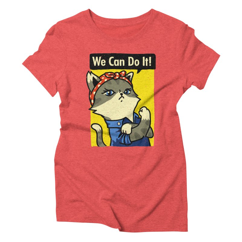 Purrsist! We Can Do It! Women's Triblend T-Shirt by Vó Maria's Artist Shop