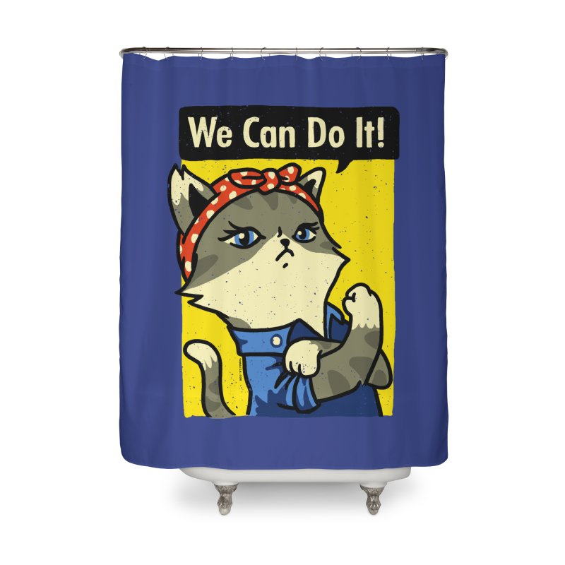 Purrsist! We Can Do It! Home Shower Curtain by Vó Maria's Artist Shop