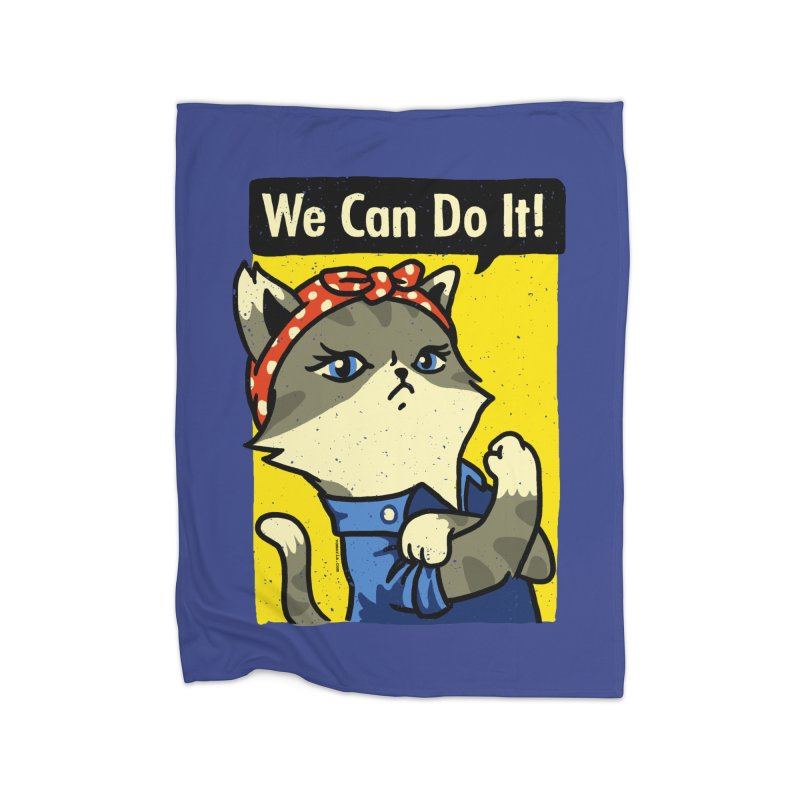 Purrsist! We Can Do It! Home Blanket by Vó Maria's Artist Shop