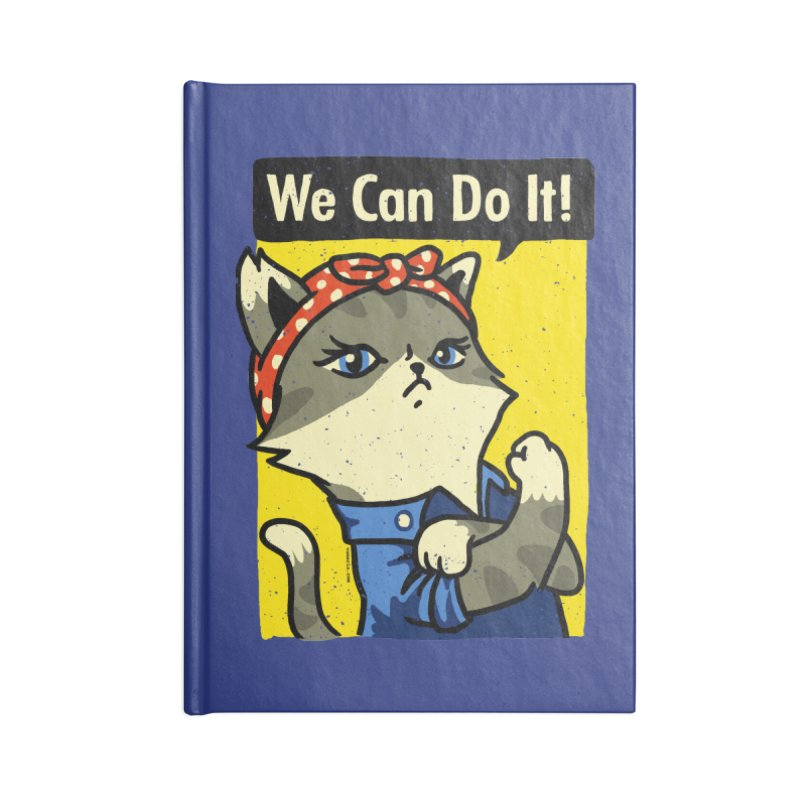 Purrsist! We Can Do It! Accessories Notebook by Vó Maria's Artist Shop