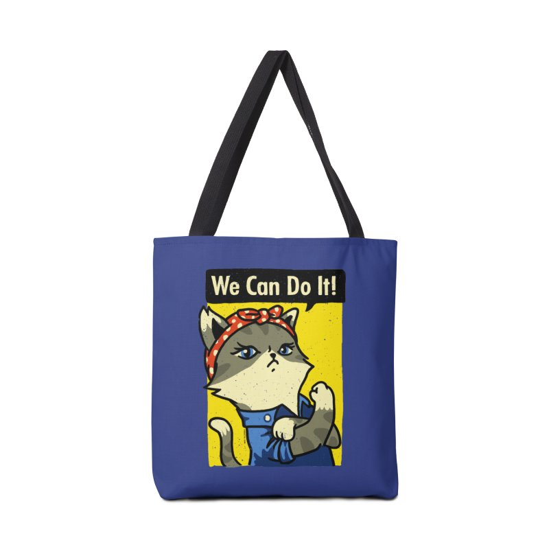 Purrsist! We Can Do It! Accessories Bag by Vó Maria's Artist Shop