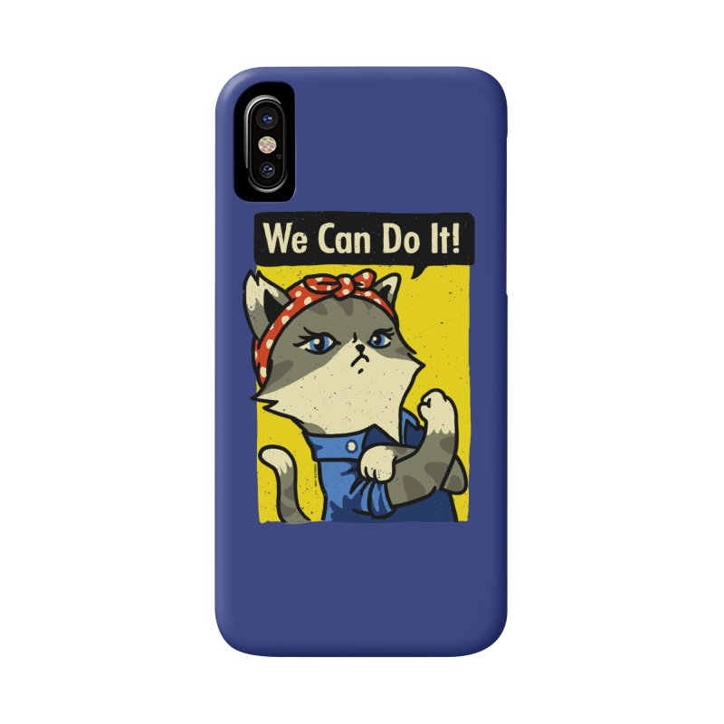 Purrsist! We Can Do It! Accessories Phone Case by Vó Maria's Artist Shop