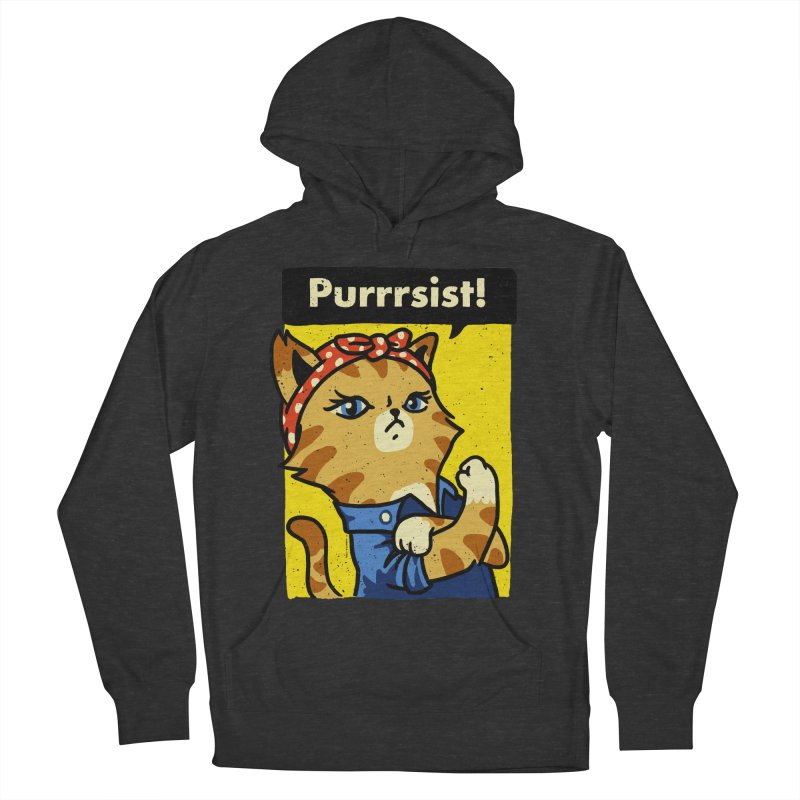 Purrrsist! Women's Pullover Hoody by Vó Maria's Artist Shop