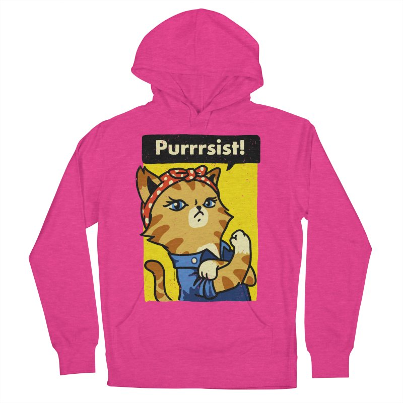 Purrrsist! Women's Pullover Hoody by Vó Maria's Artist Shop