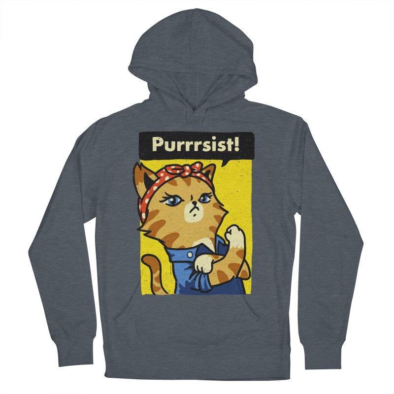 Purrrsist! Men's Pullover Hoody by Vó Maria's Artist Shop