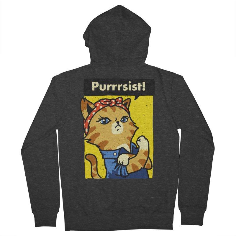 Purrrsist! Women's Zip-Up Hoody by Vó Maria's Artist Shop