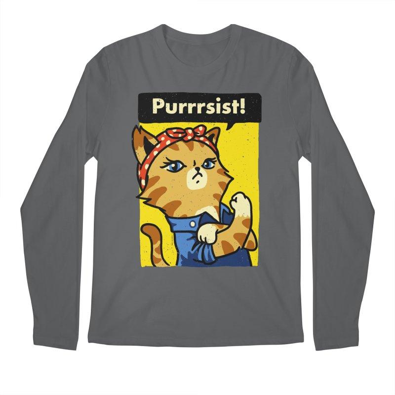 Purrrsist! Men's Longsleeve T-Shirt by Vó Maria's Artist Shop
