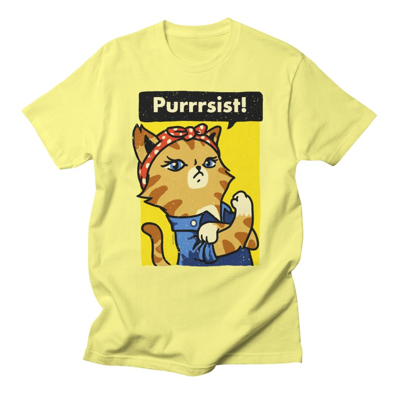 Purrrsist! Women's Unisex T-Shirt by Vó Maria's Artist Shop