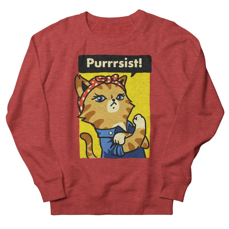 Purrrsist! Women's Sweatshirt by Vó Maria's Artist Shop
