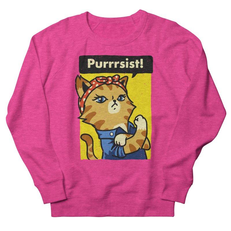 Purrrsist! Men's Sweatshirt by Vó Maria's Artist Shop