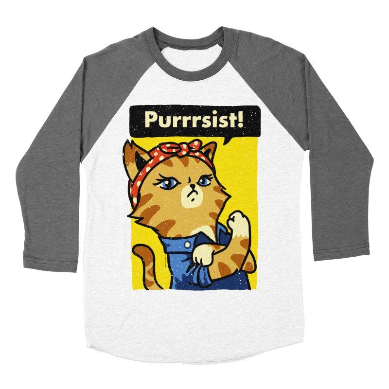 Purrrsist! Men's Baseball Triblend T-Shirt by Vó Maria's Artist Shop