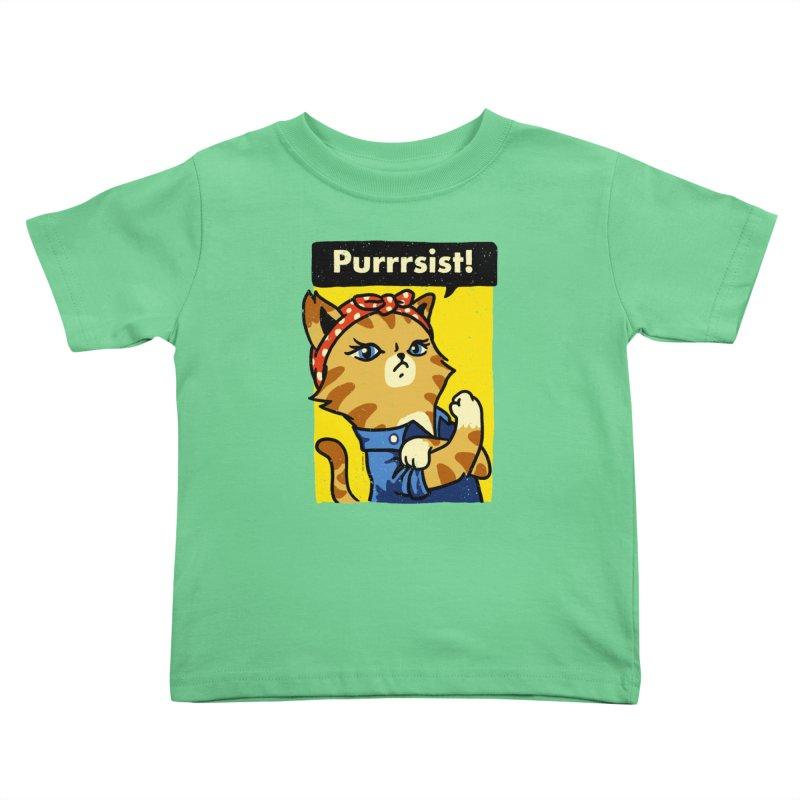 Purrrsist! Kids Toddler T-Shirt by Vó Maria's Artist Shop