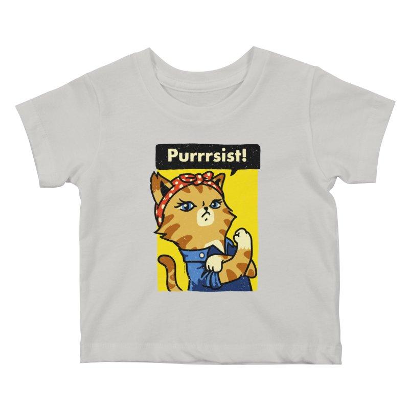 Purrrsist! Kids Baby T-Shirt by Vó Maria's Artist Shop