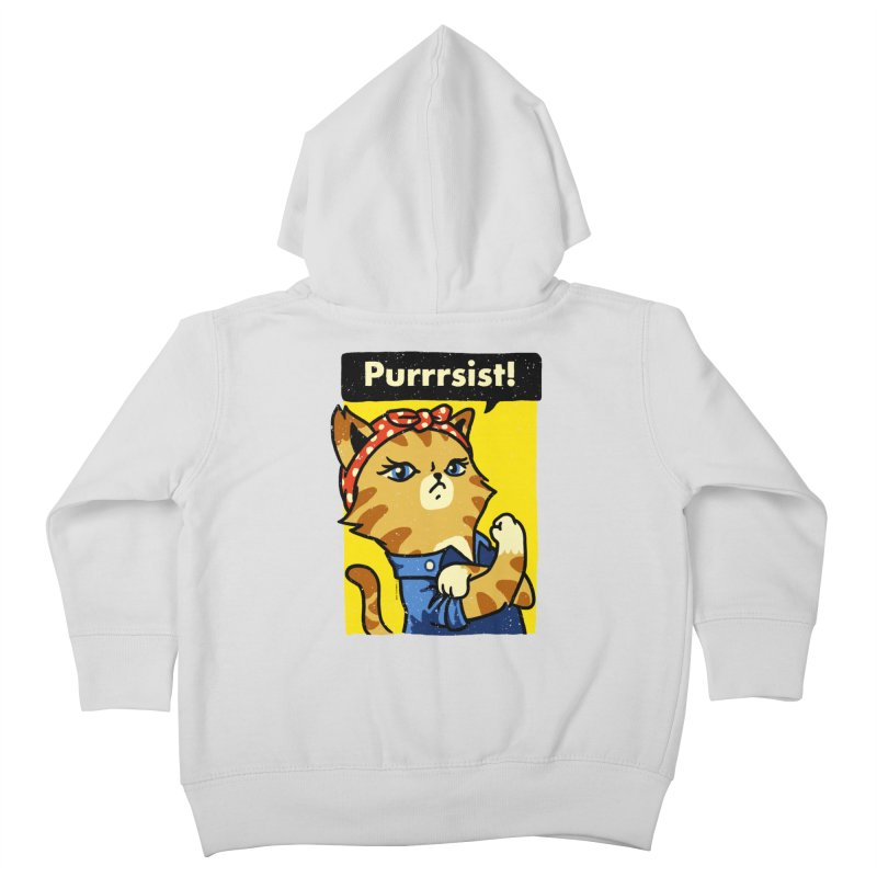 Purrrsist! Kids Toddler Zip-Up Hoody by Vó Maria's Artist Shop