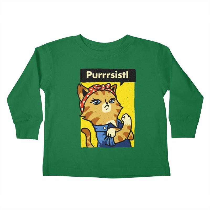 Purrrsist! Kids Toddler Longsleeve T-Shirt by Vó Maria's Artist Shop