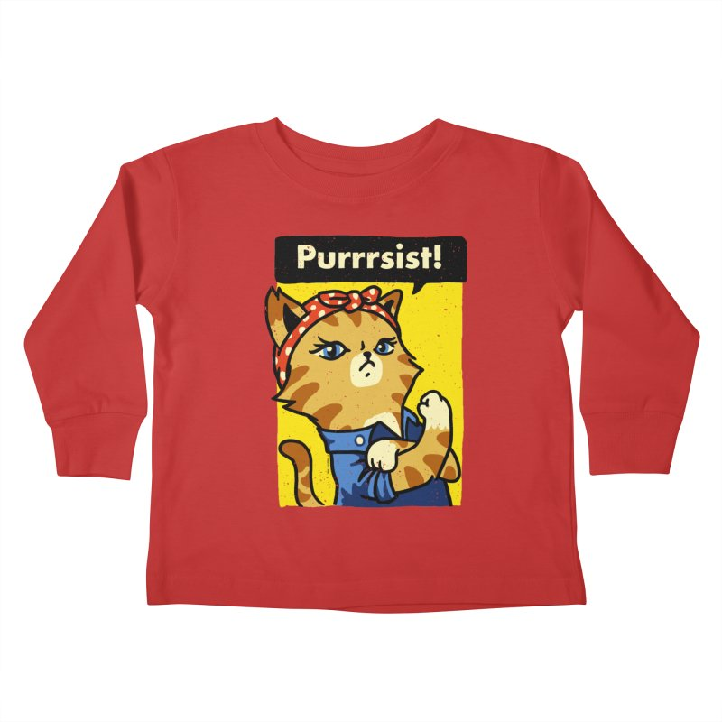 Purrrsist! Kids Toddler Longsleeve T-Shirt by Vó Maria's Artist Shop