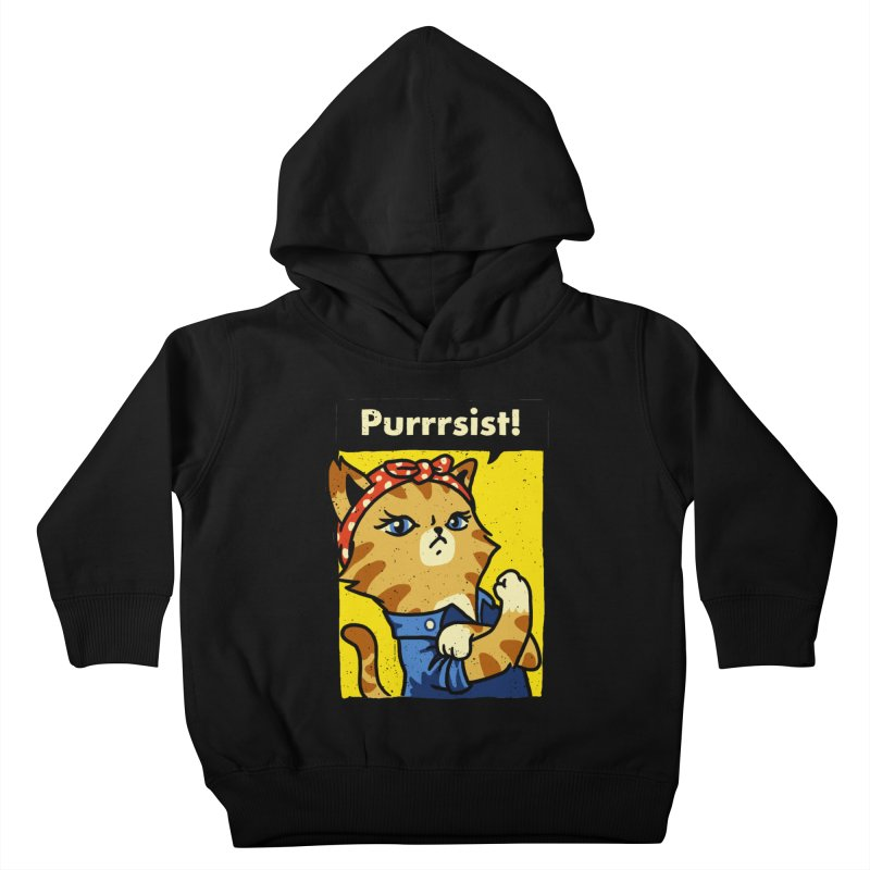 Purrrsist! Kids Toddler Pullover Hoody by Vó Maria's Artist Shop