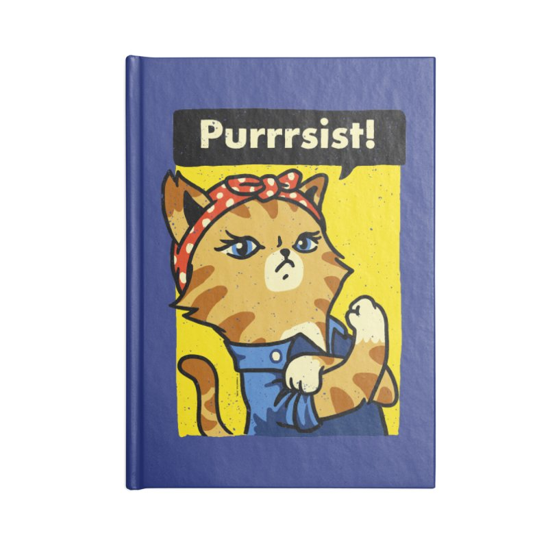 Purrrsist! Accessories Notebook by Vó Maria's Artist Shop