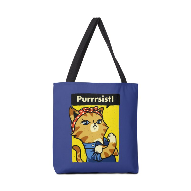 Purrrsist! Accessories Bag by Vó Maria's Artist Shop