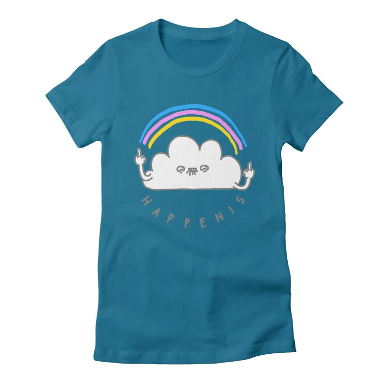 Happenis Women's Fitted T-Shirt by Vó Maria's Artist Shop