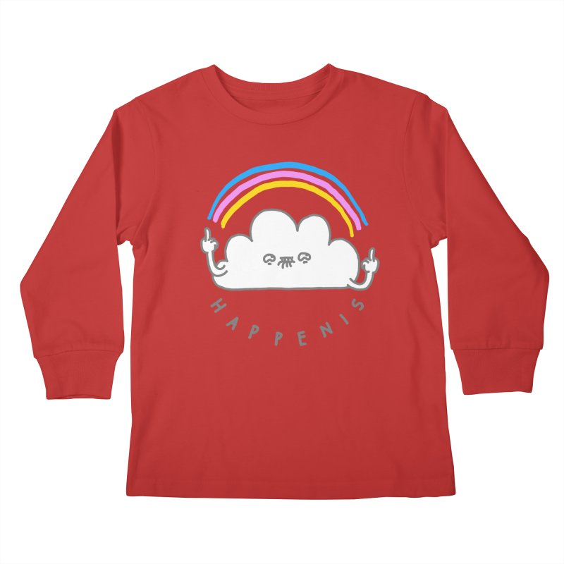Happenis Kids Longsleeve T-Shirt by Vó Maria's Artist Shop