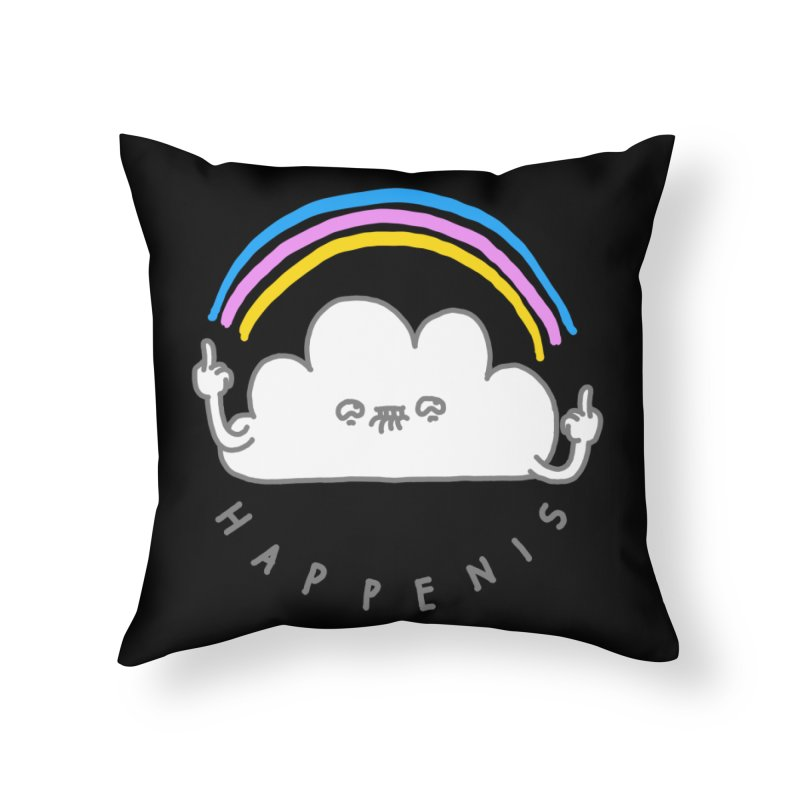 Happenis Home Throw Pillow by Vó Maria's Artist Shop