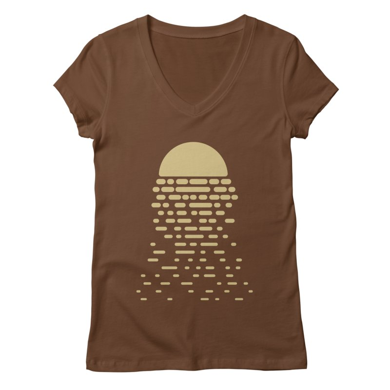 Moonshine Women's V-Neck by Vó Maria's Artist Shop