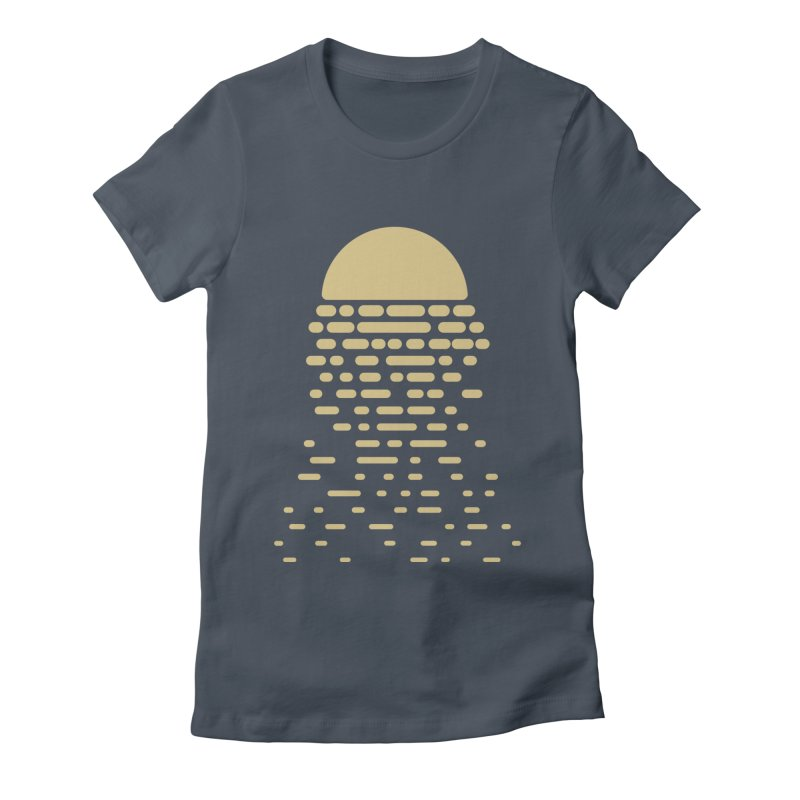 Moonshine Women's Fitted T-Shirt by Vó Maria's Artist Shop