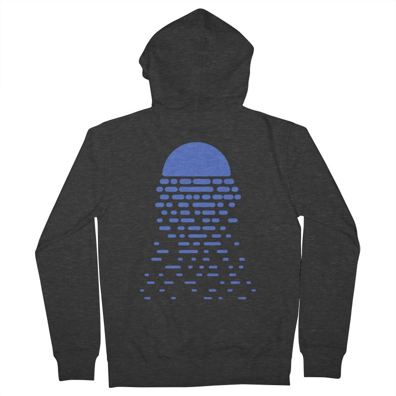 Moonlight Men's French Terry Zip-Up Hoody by Vó Maria's Artist Shop