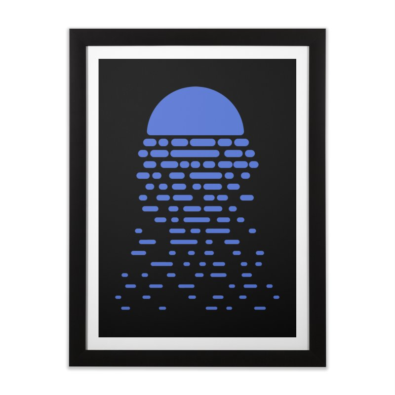 Moonlight Home Framed Fine Art Print by Vó Maria's Artist Shop