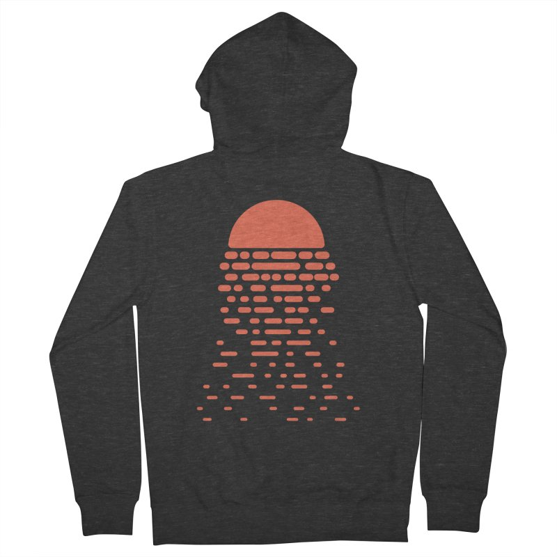 Sunset Women's French Terry Zip-Up Hoody by Vó Maria's Artist Shop