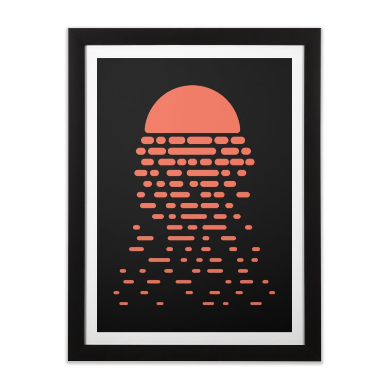 Sunset Home Framed Fine Art Print by Vó Maria's Artist Shop
