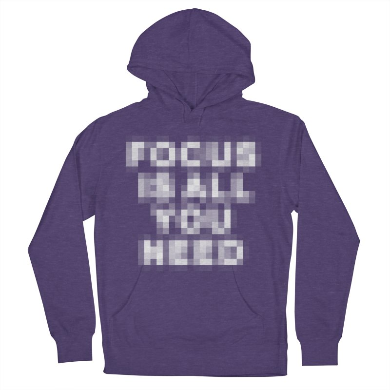 Focus Women's French Terry Pullover Hoody by Vó Maria's Artist Shop