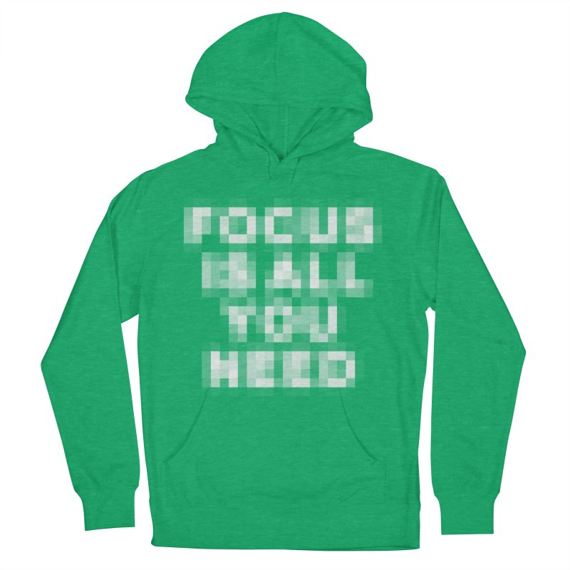 Focus Men's French Terry Pullover Hoody by Vó Maria's Artist Shop