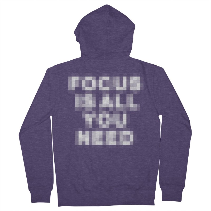 Focus Men's French Terry Zip-Up Hoody by Vó Maria's Artist Shop