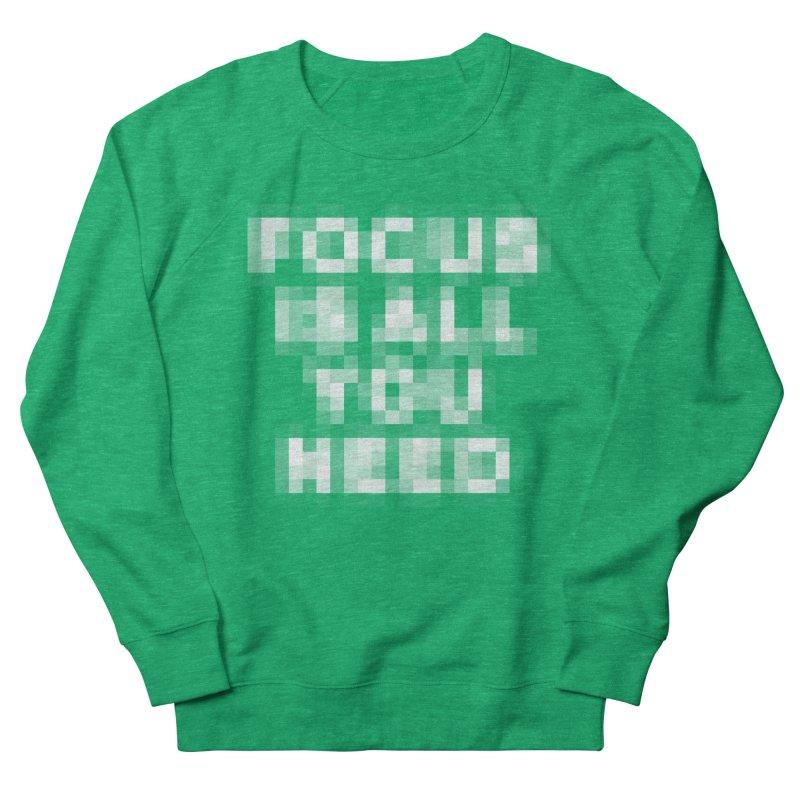 Focus Men's French Terry Sweatshirt by Vó Maria's Artist Shop