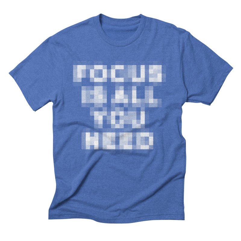 Focus Men's Triblend T-Shirt by Vó Maria's Artist Shop