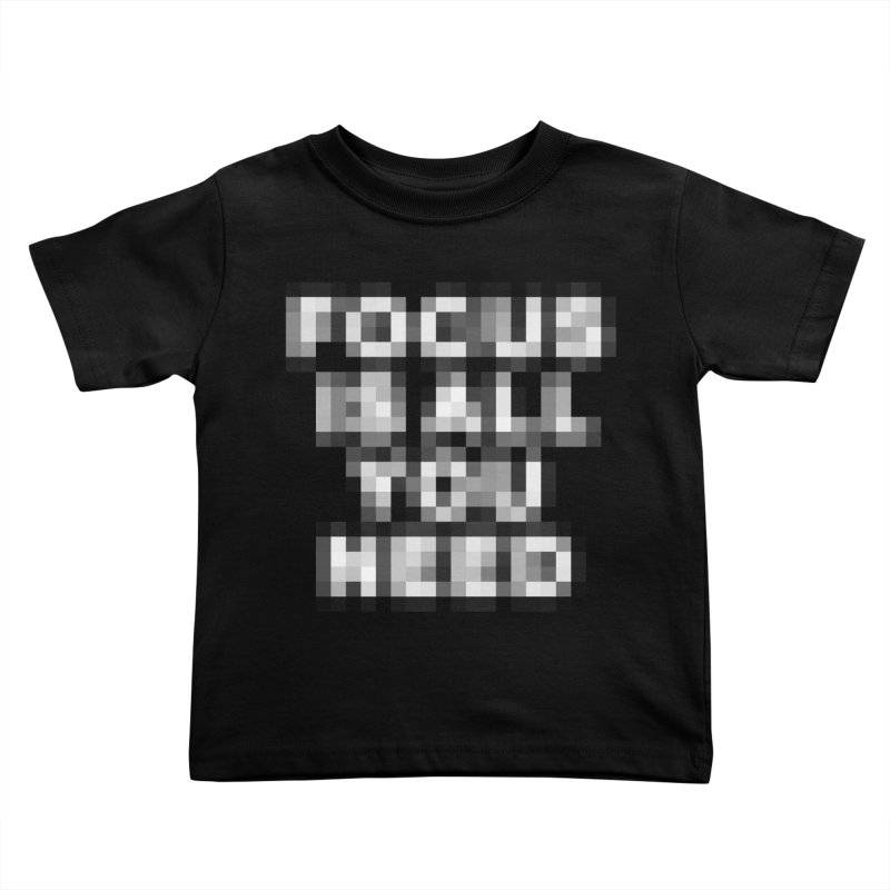 Focus Kids Toddler T-Shirt by Vó Maria's Artist Shop