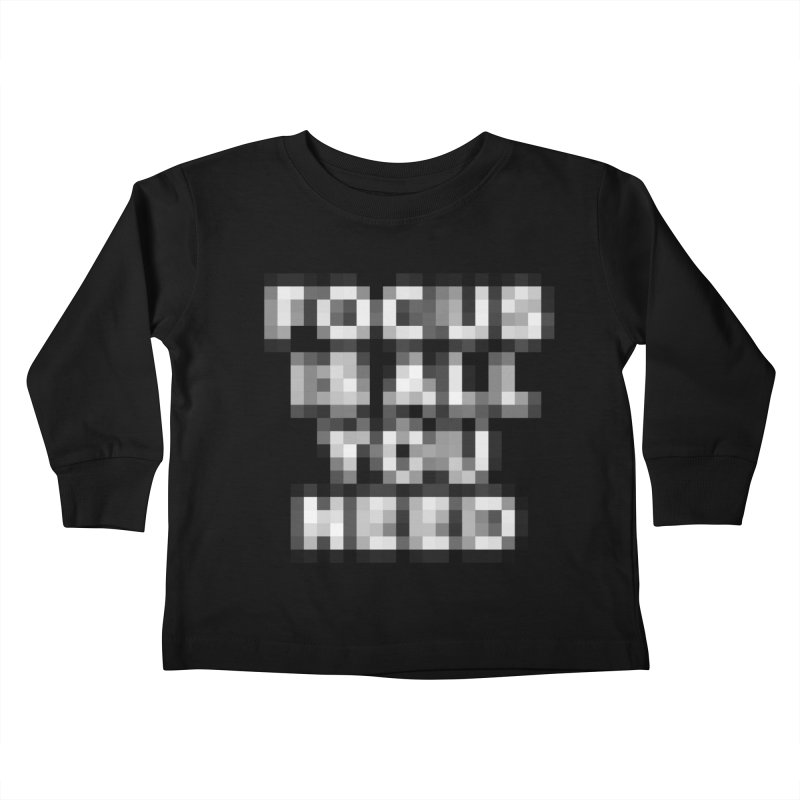 Focus Kids Toddler Longsleeve T-Shirt by Vó Maria's Artist Shop