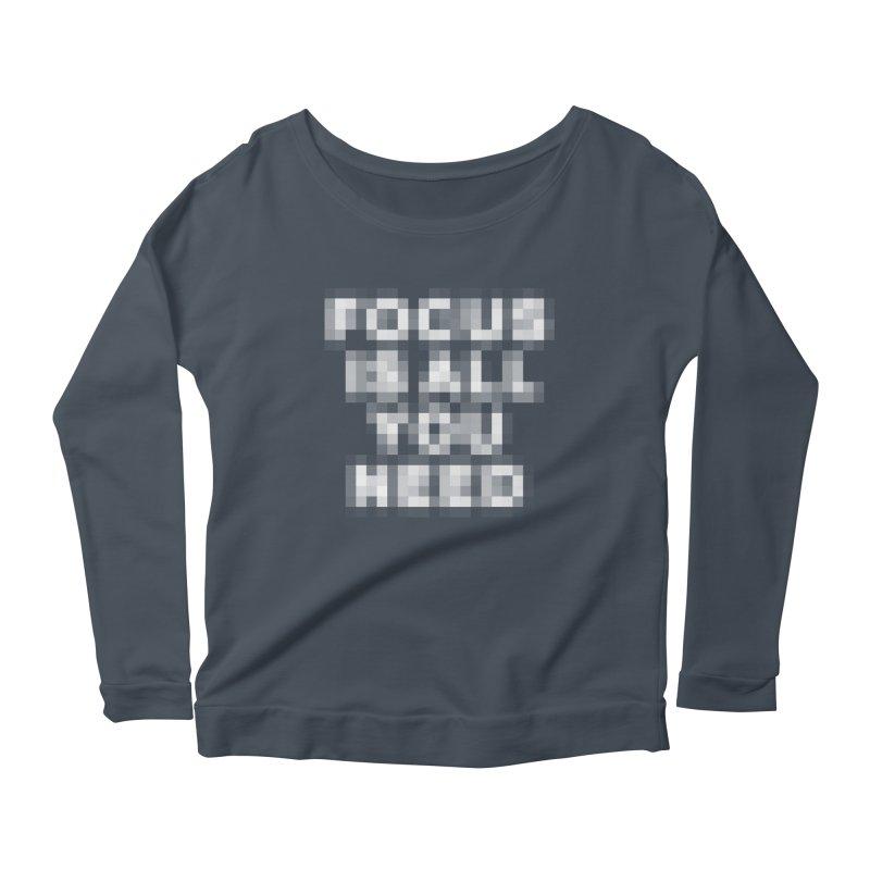 Focus Women's Scoop Neck Longsleeve T-Shirt by Vó Maria's Artist Shop