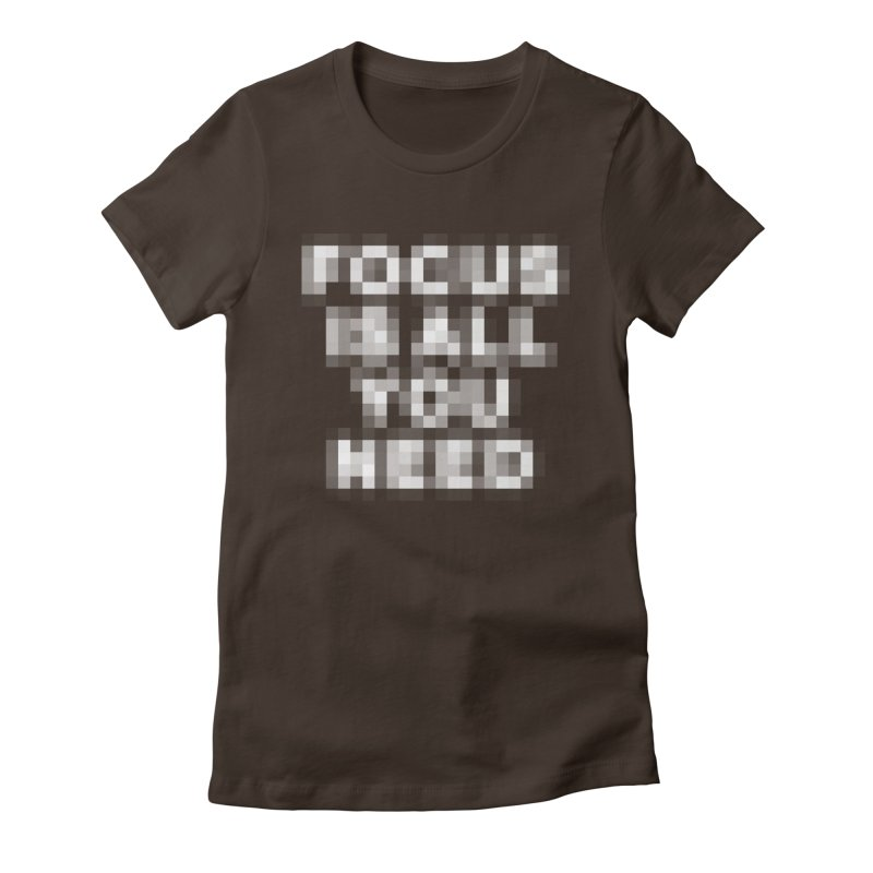 Focus Women's Fitted T-Shirt by Vó Maria's Artist Shop