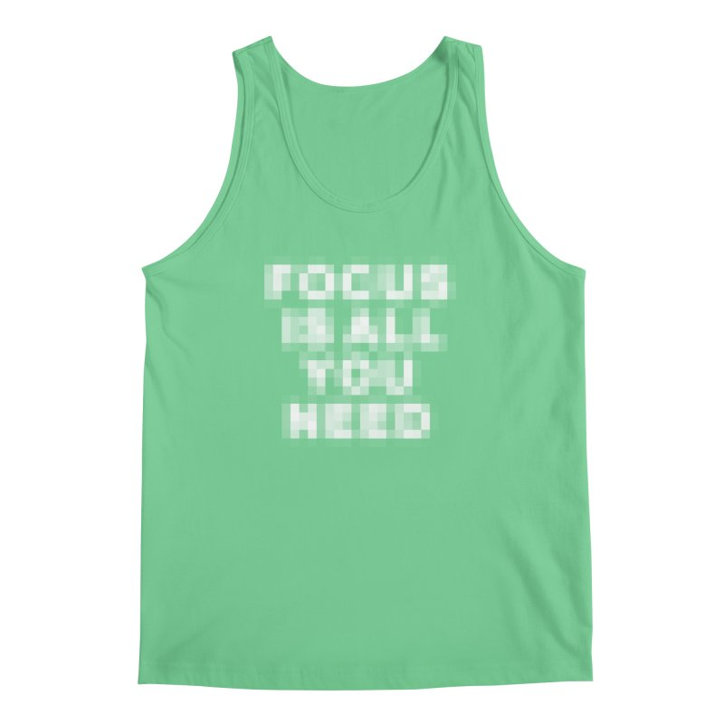 Focus Men's Regular Tank by Vó Maria's Artist Shop