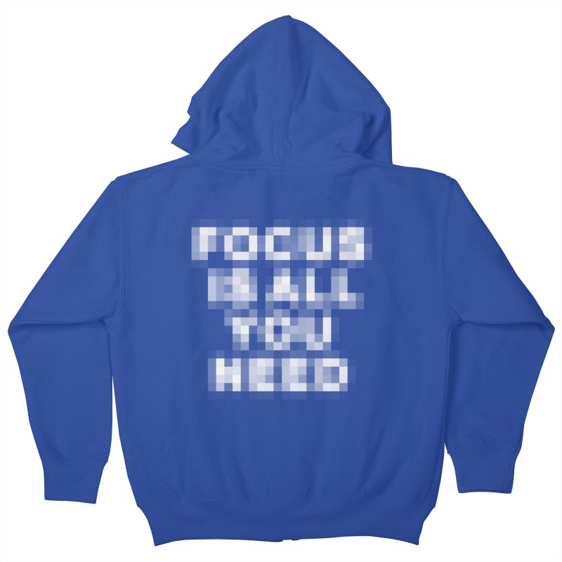 Focus Kids Zip-Up Hoody by Vó Maria's Artist Shop