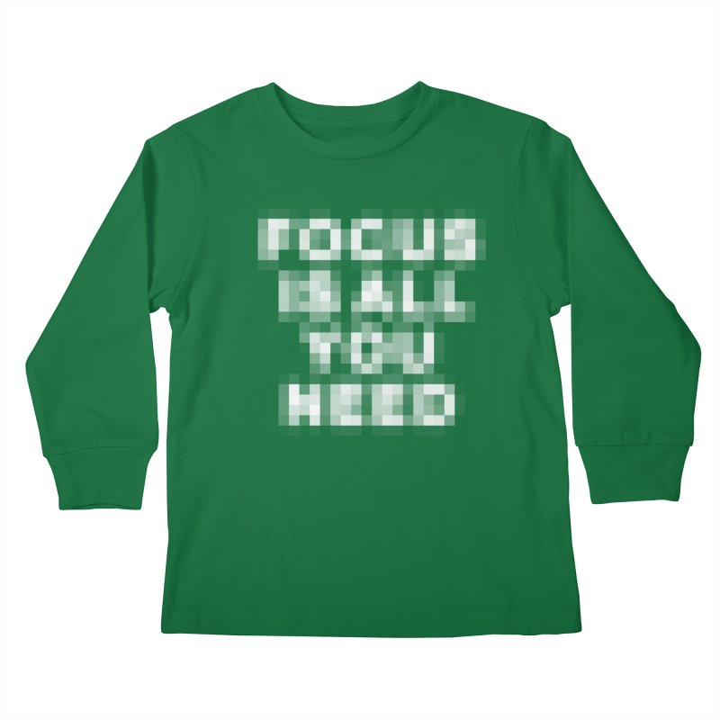 Focus Kids Longsleeve T-Shirt by Vó Maria's Artist Shop