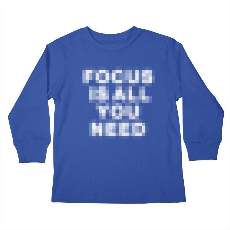 Focus Kids Longsleeve T-Shirt by Vó Maria's Artist Shop