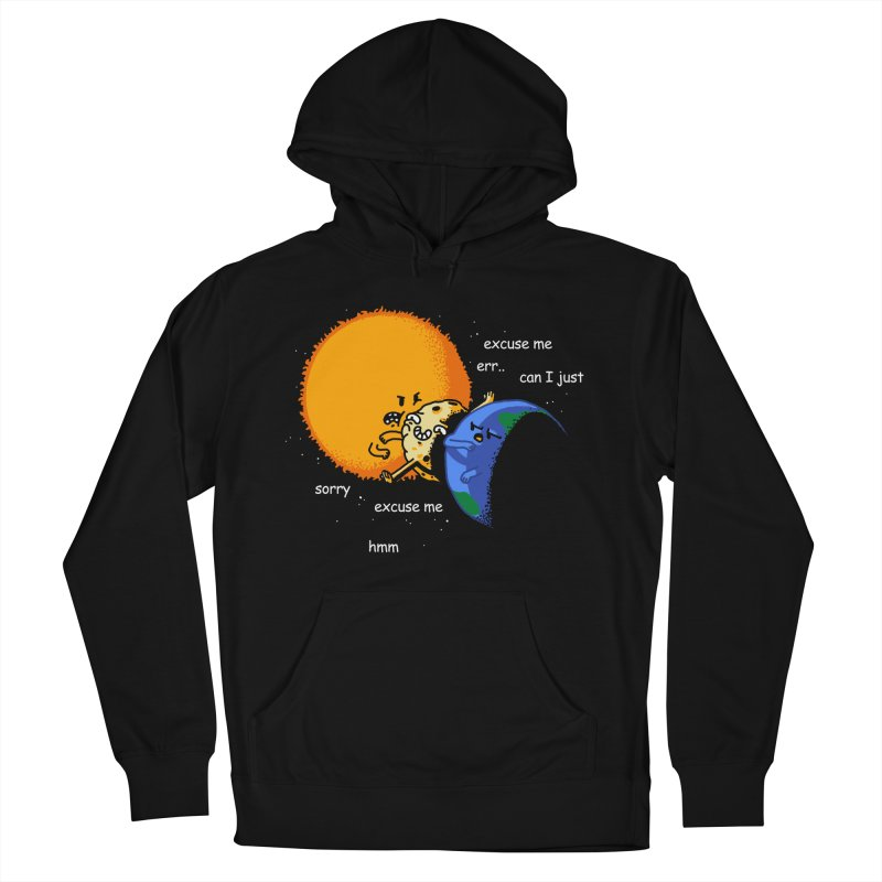 Total Solar Eclipse - Excuse Me Men's French Terry Pullover Hoody by Vó Maria's Artist Shop