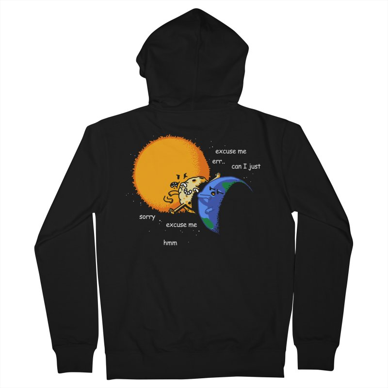 Total Solar Eclipse - Excuse Me Men's French Terry Zip-Up Hoody by Vó Maria's Artist Shop